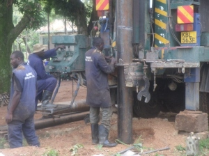 Making sure all is set to avoid borehole